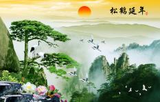 Cửa Hàng Tranh Dan Tường 3D Phong Thủy Tung Hạc Dien Nien Vtc Lunatm 0032 Trực Tuyến