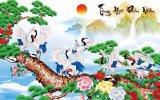 Tranh Dan Tường 3D Phong Thủy Tung Hạc Dien Nien Vtc Lunatm 0092 Kt 100 X 60 Cm Rẻ