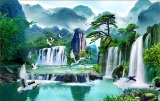 Giá Bán Tranh Dan Tường 3D Phong Thủy Tung Hạc Dien Nien Vtc Lunatm 0100 Kt 140 X 90 Cm