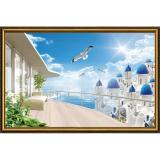 Bán Tranh Dan Tường 3D Vtc Cảnh Biển Đẹp Cb0103K Có Thương Hiệu Nguyên