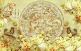 Tranh Dan Tường 3D Vtc Long Phụng Ngọc Lunawall 0036 Kt 120 X 90 Cm Trong Hồ Chí Minh