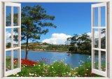 Ôn Tập Tranh Dan Tường Cửa Sổ 3D Cảnh Đẹp Thien Nhien Vtc Vt0187 Kt 110 X 90 Cm