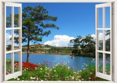 Bán Tranh Dan Tường Cửa Sổ 3D Cảnh Đẹp Thien Nhien Vtc Vt0187 Kt 110 X 90 Cm Hồ Chí Minh Rẻ