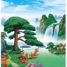 Giá Bán Tranh Dan Tường Phong Thủy Vtc Sơn Thủy Hữu Tinh Lunatm 0125 Mới