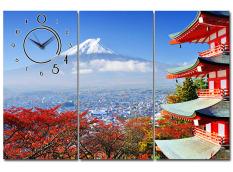 Tranh đồng hồ Núi Phú Sĩ Nhật Bản Suemall TN140703