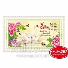 Tranh thêu chữ thập Vợ chồng AL53376-Siêu thị tranh thêu