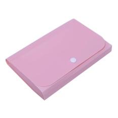 Mua Nhựa trong mờ Mini Thun Mở Rộng Ví Dự Luật Biên Lai Các Tập Tin Thư Mục (Hồng)-quốc tế(Pink)