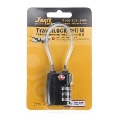 Hình ảnh TSA Resettable 3 Digit Combination Travel Luggage Suitcase Lock Padlock Black - intl