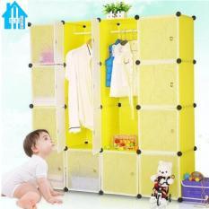 Bán Mua Tủ Nhựa Lắp Ghep 16 Ngăn Bibi Home Tn Vc Tt Hv 16 Vang Chanh Mới Hà Nội