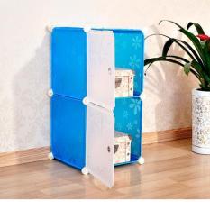 Tủ Nhựa Lắp Ghep Bibi Home 2 Ngăn Tn Xth 2 Xanh Trời Hoa Oem Chiết Khấu