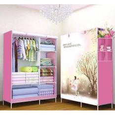 Tủ vải quần áo 3d Trang Anh (hồng)