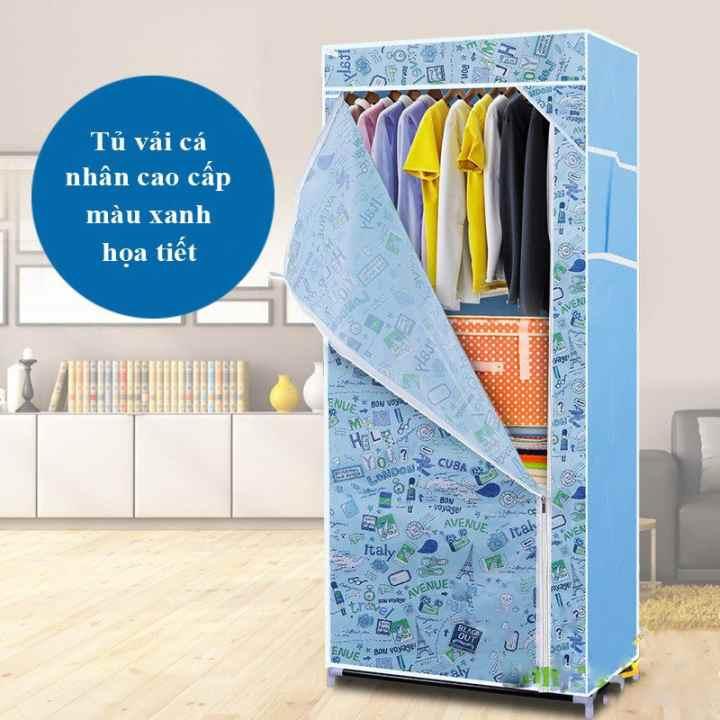 Tủ vải quần áo cá nhân mẫu mới 2016 (xanh)