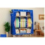 Cửa Hàng Tủ Vải Quần Ao Khung Gỗ 3 Buồng 8 Ngăn Rẻ Nhất
