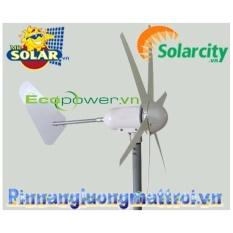 Hình ảnh Tua bin gió solarcity (tua bin gió trục ngang 6 cánh ) 500W