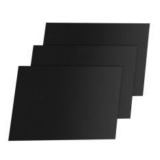 UINN 3pcs/set PTFE Coated Fiberglass Fabric Non-Stick Reusable BBQ Grill Mat Black 33*40cm - intl