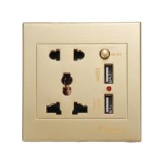 Đa năng 2100mA 5 v 2 USB Ổ điện AC 110-250 v US UK EU AU Nhà Sạc Tường 2 cổng USB Ổ Cắm Sạc Cho điện thoại-quốc tế