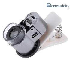 Đa năng 65X Zoom Kẹp Kính Hiển Vi LED + Đèn UV Kính Phóng Đại Ống Kính Micro cho Điện Thoại - quốc tế