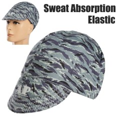 Universal Sweat Absorption Elastic Welding Welder Hat Cap Soft Camo Pure Cotton - intl