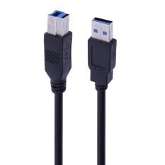 USB 3.0 Loại A sang USB 3.0 Loại B Nam Nối Dài Cáp Máy In (Đen) -5 m-quốc tế