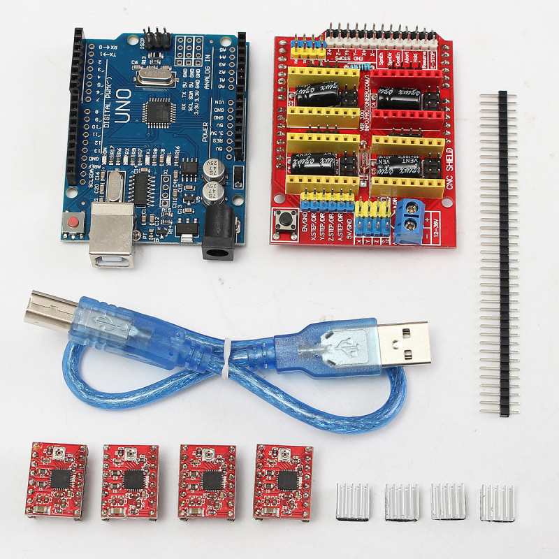 V 3.0 Khắc Cnc + tặng Bảng + A4988 Động Cơ Bước Trình Điều Khiển Cho UNO R3 Arduino-quốc tế