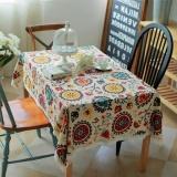 Mua Vintage Chữ Nhật Vải Lanh Cotton Khăn Trải Ban Viền Ren Hoa Mặt Trời Khăn Trải Ban 140X220 Cm Quốc Tế Unbranded