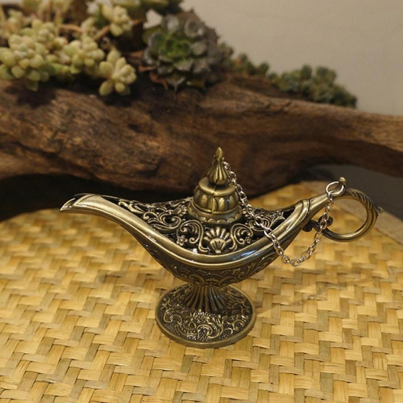 Vintage Bạc Nồi Collectable Truyền Thuyết Aladdin Magic Thần Chúc Đèn Trang Trí