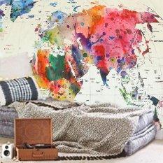 Vintage World Map Mandala Wall Hanging Tapestry Bedspread Dorm Living Room Decor