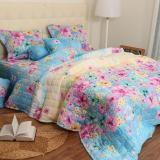 Mua Vỏ Chăn Đong Cotton Hoa Hồng Nền Xanh Blue Rẻ
