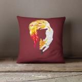 Vỏ gối trang trí, tựa lưng Sofa Tmark 04 Họa tiết cách điệu hình thú (Chồn đỏ)