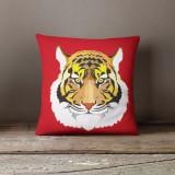 Vỏ gối trang trí, tựa lưng Sofa Tmark 06 Họa tiết cách điệu hình thú ( Hổ đỏ)