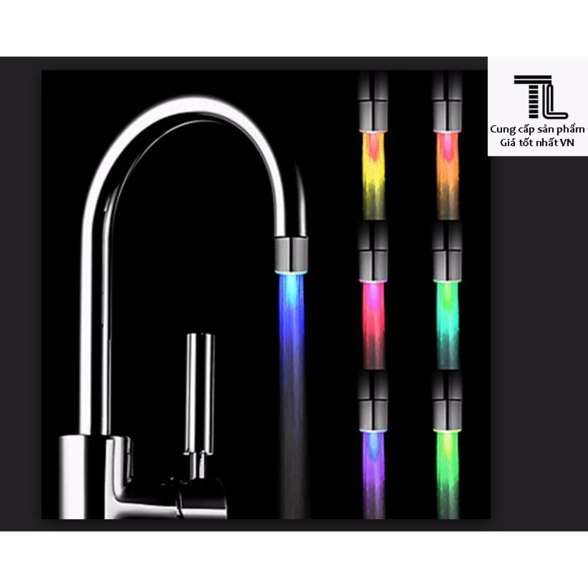 Hình ảnh Vòi lavabo đổi màu hiệu ứng đa sắc, phụ kiện trang trí phòng tắm