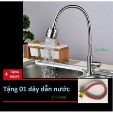 Vòi rửa chén cắm chậu cần mềm - inox 304