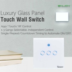 Trắng Sonoff T1 3 nút WiFi & RF 86 Loại ANH Tường Thông Minh Công Tắc Đèn Cảm Ứng-quốc tế