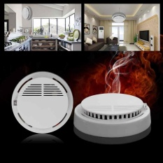Hình ảnh Wireless Home Security Smoke Detector Fire Alarm Sensor System Cordless White - intl