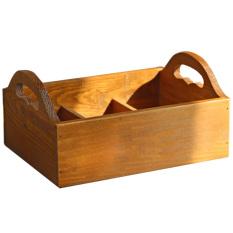 Wood Flower Pot Desk Box - intl