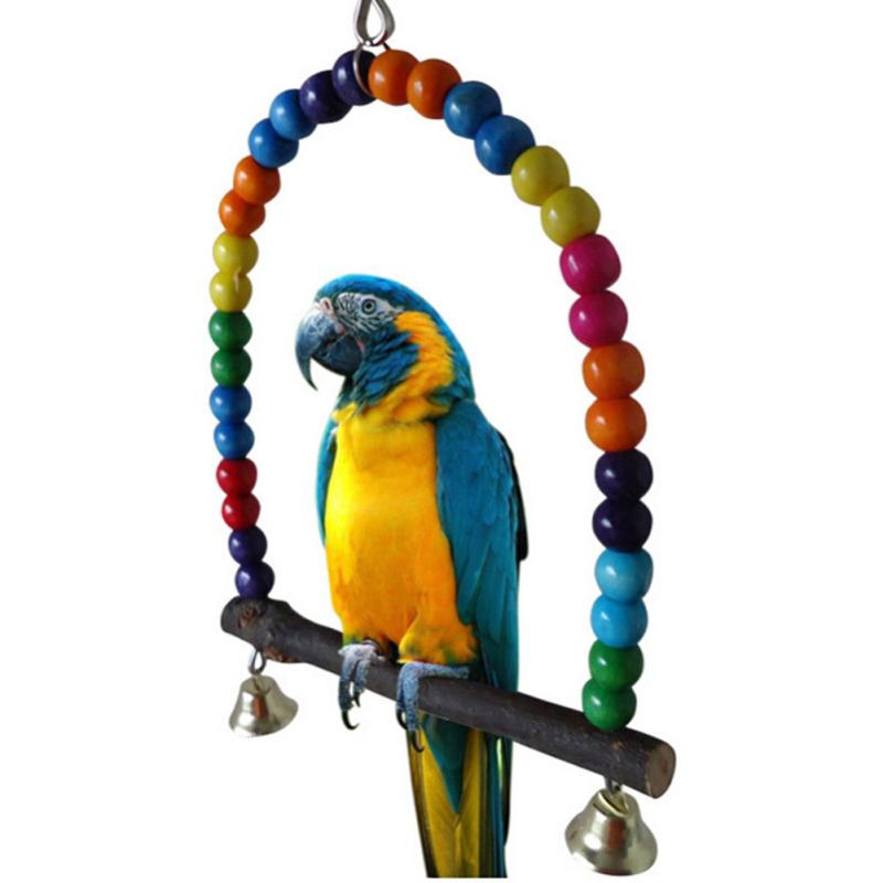 Gỗ Chim Vẹt Lắc Đồ Chơi Vẹt Cockatiel Lovebird Budgie 15 cm (Quốc Tế)