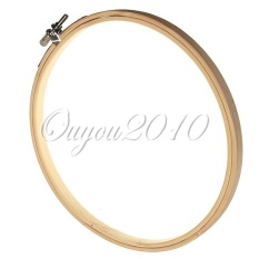 Wooden Embroidery Hoop Round Cross Stitch Bamboo Ring Loop Needlepoint Sewing - intl