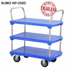 Xe đẩy hàng sàn nhựa SUMO NP-230D ( 3 tầng - tải trọng 300kg)