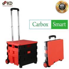 Xe kéo chở hàng GẤP GỌN đi siêu thị đi du lịch dung tích 34L Carbox smart (ĐỎ)