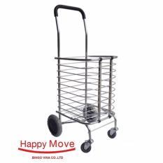 Hình ảnh Xe kéo đi chợ nhôm chống gỉ gấp gọn Happy Move 30kg