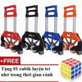Bán Mua Xe Nang Keo Đẩy Hang Bằng Tay Mau Đỏ Tặng 01 Bộ Xếp Hinh Rubik