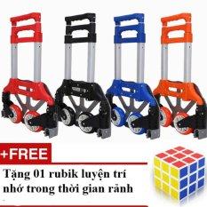 Bán Mua Trực Tuyến Xe Nang Keo Đẩy Hang Bằng Tay Mau Đỏ Tặng 01 Bộ Xếp Hinh Rubik