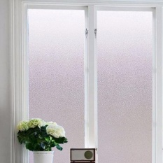 Hình ảnh Yika Waterproof Bedroom Bathroom Glass Window Door Film Sticker PVC Frosted 45x100cm - intl