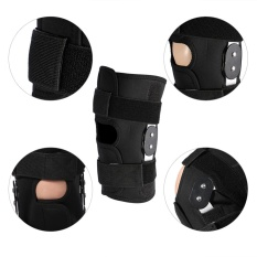 Hình ảnh YOSOO Adjustable Knee Brace Pad Protector Compression Sleeves Safety Strap (XL) - intl
