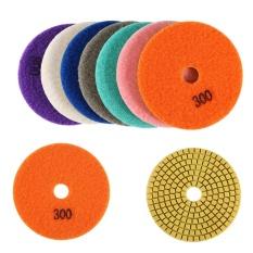 Hình ảnh YOSOO- One Set Diamond Wet Dry Polishing Pads Disc for Granite Marble Stone 4 inch - intl