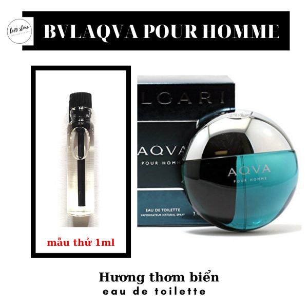 Mẫu thử 1ml Nước hoa nam cao cấp Bvlgari Aqva Pour Homme EDT - Nước hoa nam chính hãng Bvlgari - Nước hoa bvlgari cho nam