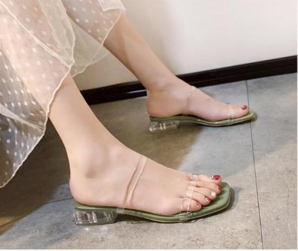 Dép 2 quai mica gót trong 3p -  fashion Hàn Quốc - DD-0215 giá rẻ
