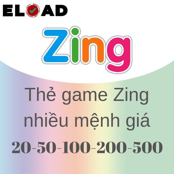 Deal Ưu Đãi Thẻ Zing 20K-50K-100K-200K-500K - Nhận Siêu Nhanh