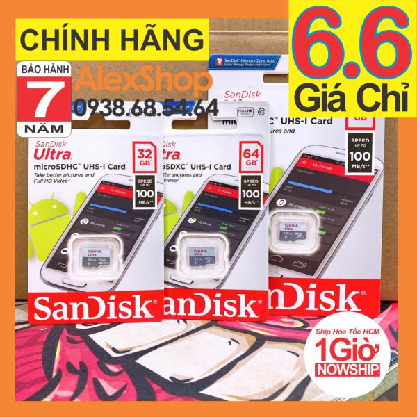 [Chính Hãng BH 7 Năm] Thẻ Nhớ SanDisk MicroSD Ultra 16/32/64/128GB 100MB/s Chính Hãng Có Tem Chính Hãng