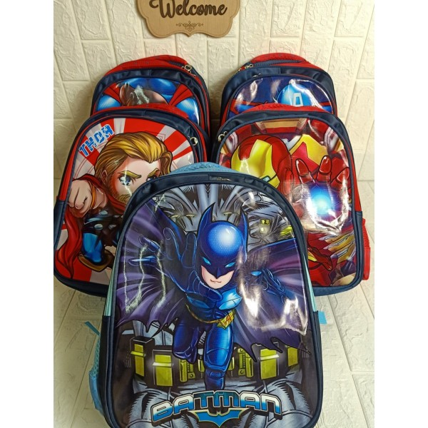 Giá bán Balo biệt đội siêu anh hùng cho bé đi học , Balo học sinh tiểu học , Balo cho bé trai lớp 1-3